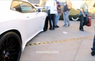 Widebody hemi dodge challenger on forgiato rims at dub show outside sema show 2013