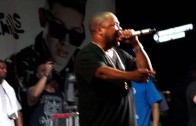 Xzibit performing at Extreme Autofest Anaheim 2014