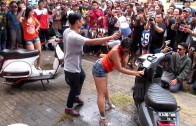 """ALPHA 77 DANCER"" By ALPHA ENTERTAINMENT – ""CST Ind MotFest 2014"" [Day 2 – LADIES BIKE WASH 4]"