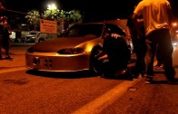 BowDown turbo integra Vs DFR's Nitrous K-series Civic Street Racing