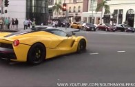 Ferrari Laferrari terrorizing Beverly Hills , drift , powerslide , burnout , street race