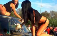 Hot Car Wash Sexy & Beautiful Girls on Ford Pickup Truck in Bikini