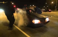 Mustang 88mm turbo vs. S10 turbo truck street race heads up