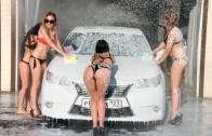Бикини мойка девушки моющие авто! Sexy girls TWERK  Car wash girls HD!