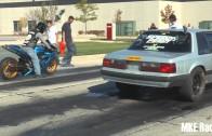 Street Race. R1 vs Nitrous mustang. $$$
