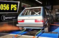 VW Golf MK1 AWD 1056HP street race & dyno test