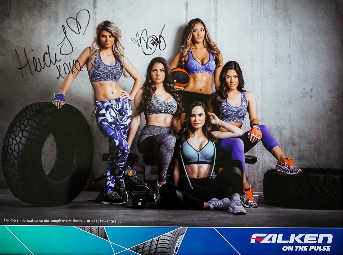 Autographed Poster – Models Heidi and Brittany | Falken Tires Girls