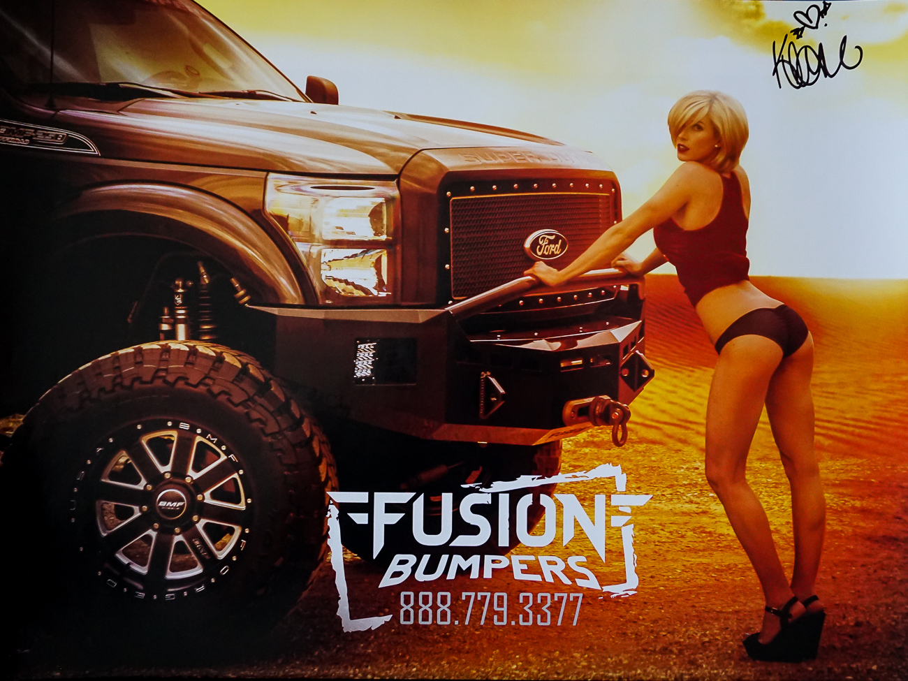 Autographed Poster Fusion Bumpers Model