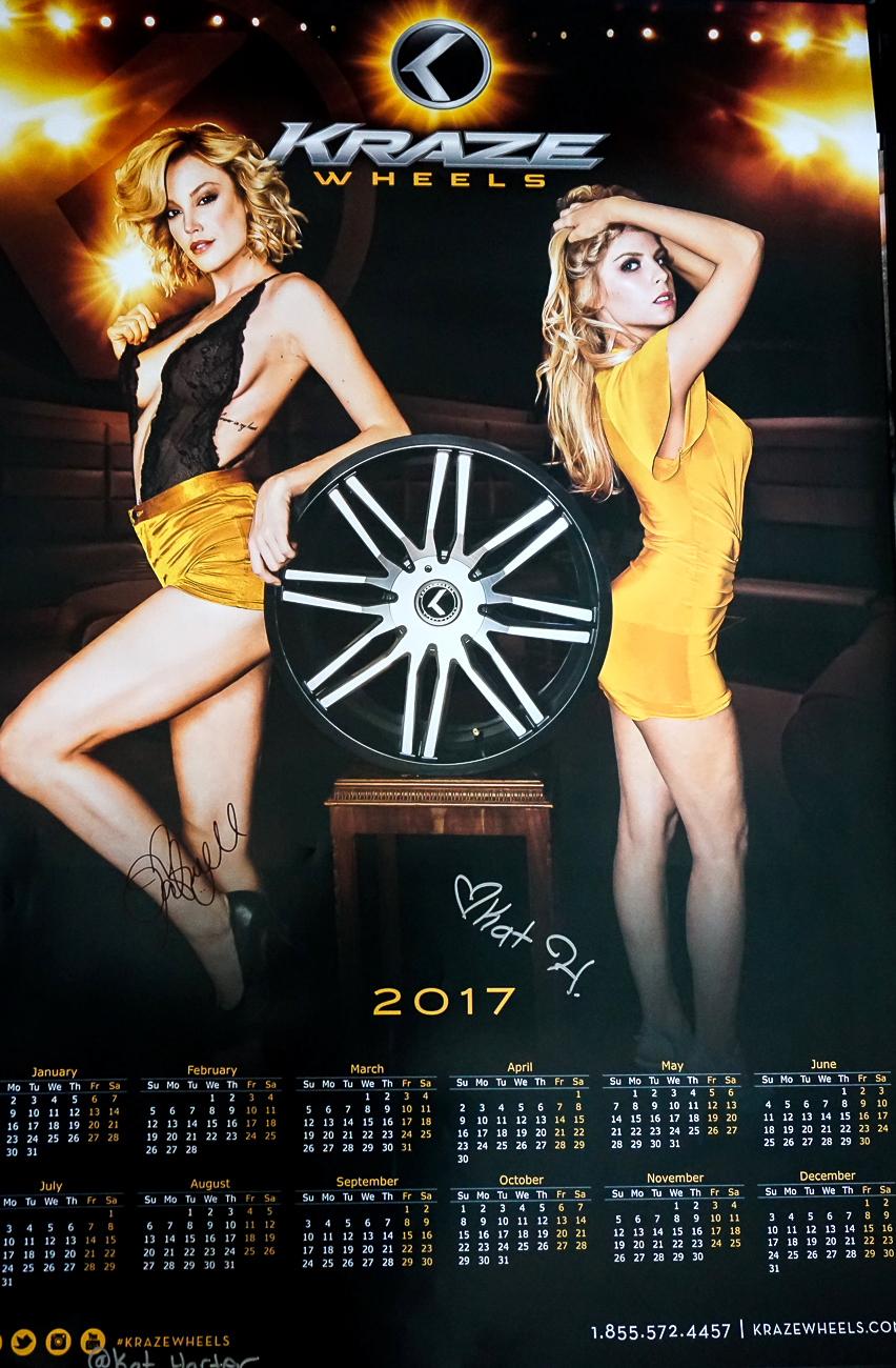 Autographed Poster Kraze Wheels Models Gabrielle Romanello & Kat Harter