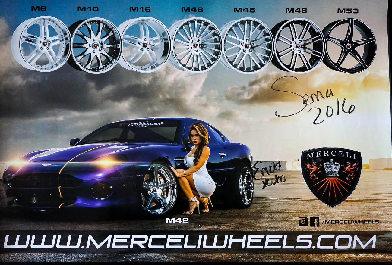 "Autographed Poster ""Erica"" Aston Martin V12 | Merceli Wheels"