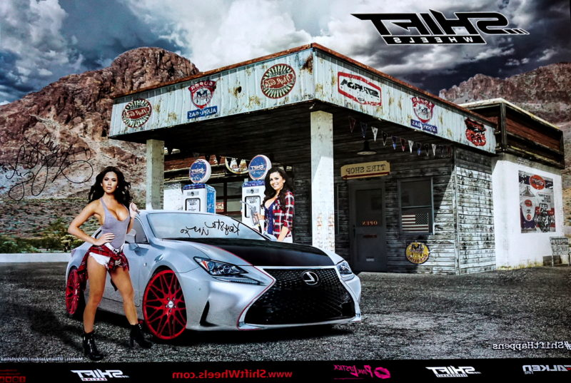 Autographed Poster Strada Wheels Krystle Lina and Tawny Jordan