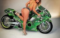 Diana Sparks with a Custom ZX14 Sportbike