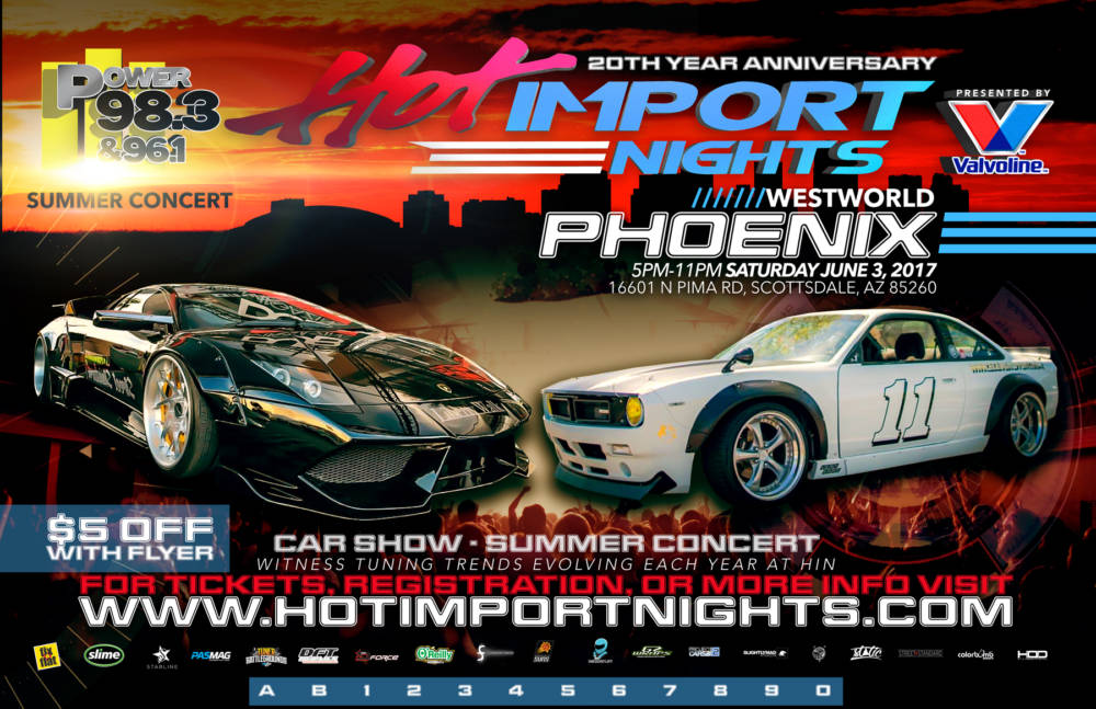 OFFICIAL HOT IMPORT NIGHTS TOUR SCHEDULE 2017