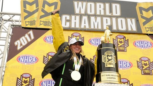 Brittany Force becomes just the second woman to win the NHRA