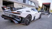 World first 3m Italdesign Zerouno delivery brutal drive